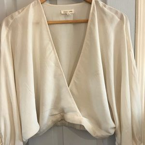 Urban Outfitters flowy crop- blouse